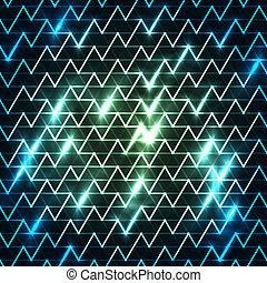 blu, digitalmente, luce, immagine, zebrato, digiuno, generare, spostamento, fondo, nero, sopra