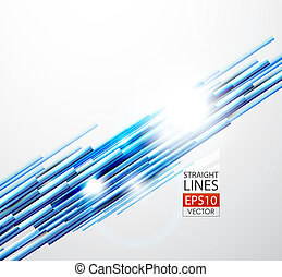 blu, diritto, linee, astratto, fondo