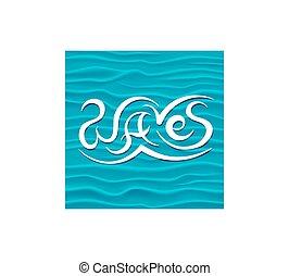blu, disegno astratto, fondo, onde