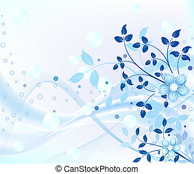 blu, disegno astratto