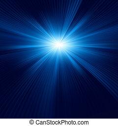 blu, disegno colore, con, uno, burst., eps, 8