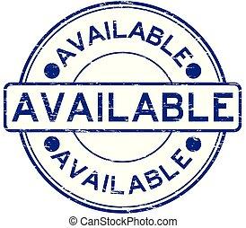 blu, disponibile, grunge, francobollo, gomma, fondo, bianco, rotondo