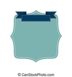 blu, distintivo, icona
