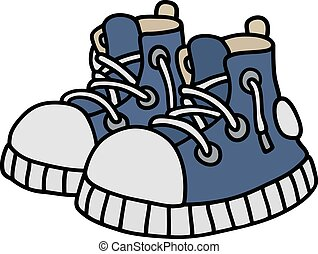 blu, divertente, scarpe tennis