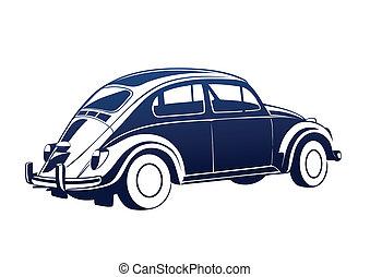 blu, dolce, vecchio, auto