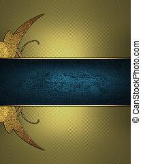 blu, dorato, oro, ribbon., modello, astratto, luogo, disegno, fondo, template.