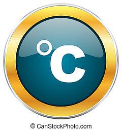 blu, dorato, web, mobile, apps, isolato, metallico, cromo, ...