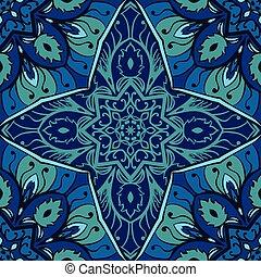 blu, elegancja, ornament.