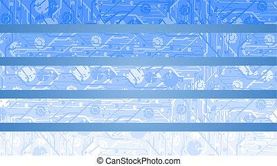 blu, elegante, bandiera