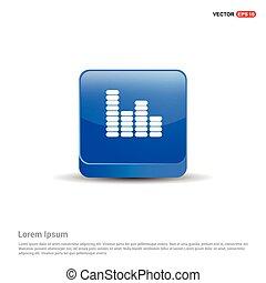 blu, equalizzatore, bottone, -, icona, 3d