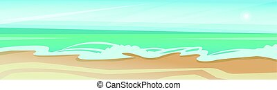 blu, estate, cielo, vacanza, riva, mare sabbia, spiaggia