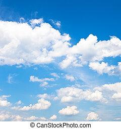 blu, estate, nubi, cielo, bianco, giorno