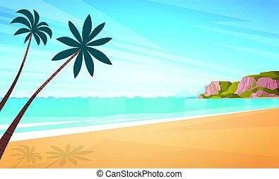 blu, estate, sole, cielo, vacanza, riva, mare sabbia, spiaggia