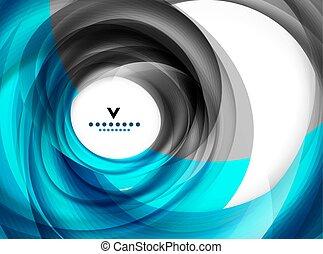 blu, estratto disegno moderno, sagoma, turbine