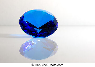 blu, facted, gemstone