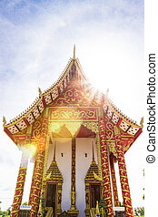 blu, fede, arte, cielo, tailandia, tailandese, tempio