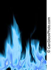 blu, fiamme, fuoco, caldo, bianco, aperto