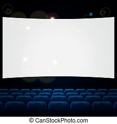 blu, file, teatro, cinema, posti, o