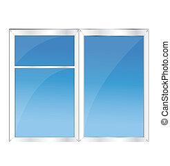 blu, finestra, cielo