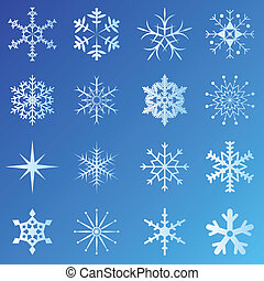 blu, fiocchi neve, fondo