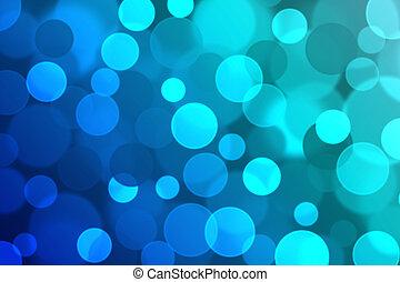 blu, fondo., bokeh, sfocato