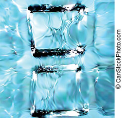 blu, fondo., cubi, ghiaccio, vettore