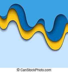 blu, fondo, Estratto, ondulato, disegno