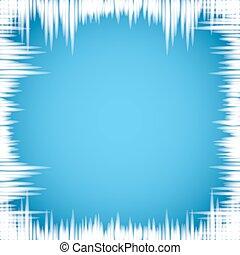 blu, fondo., finestra, ghiaccioli