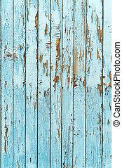 blu, fondo., legno, vecchio, asse