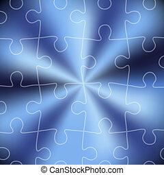 blu, fondo., puzzle, astratto