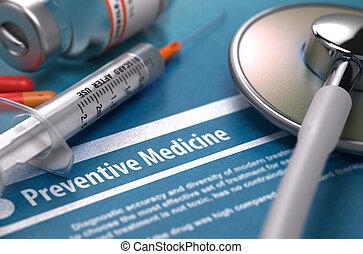 blu, -, fondo., stampato, diagnosi, medicina, preventivo