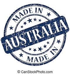 blu, francobollo, australia, fatto