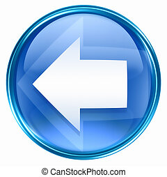 blu, freccia sinistra, icona