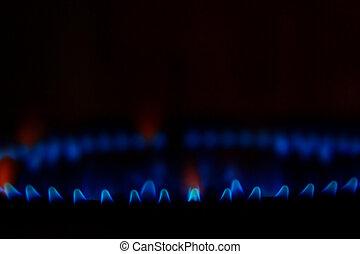 blu, fuoco