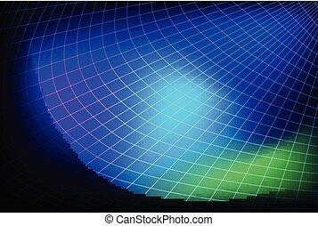 blu, futuristico, astratto, globo, fondo