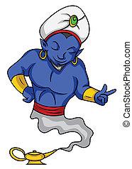 blu, genie