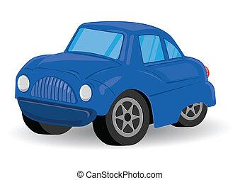 blu, gioca veicolo utilità, automobile
