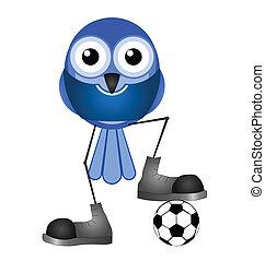 blu, giocatore, calcio