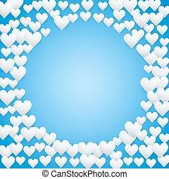 blu, giorno valentines, fondo