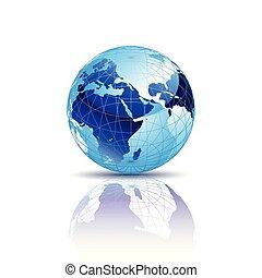 blu, globo mondo