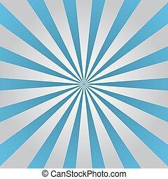 blu, grigio, raggi, stella, manifesto