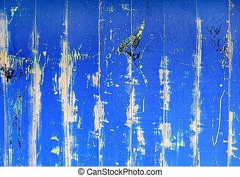 blu, grunge, dipinto, astratto, creaked, legno, fondo, parete