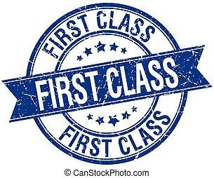 blu, grunge, francobollo, isolato, retro, classe, nastro, primo