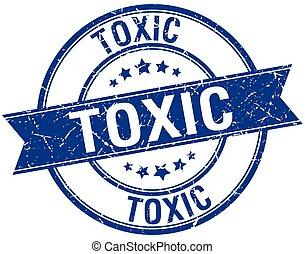blu, grunge, francobollo, isolato, retro, tossico, nastro