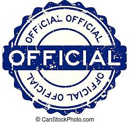 blu, grunge, francobollo, ufficiale, gomma, fondo, sigillo, bianco, rotondo