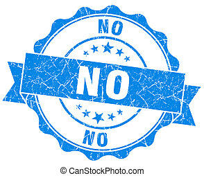 blu, grunge, no, isolato, sigillo, bianco