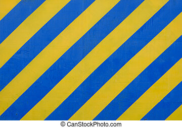 blu, grunge, pericolo, modello, superficie, avvertimento, giallo, o