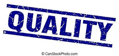 blu, grunge, quadrato, qualità, francobollo
