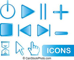 blu, icone fotoricettore