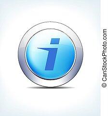 blu, informazioni, bottone, vettore, ospedale, icona